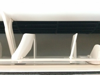 シャープ製 エアコン/室外機クリーニング/山口市の施工後画像