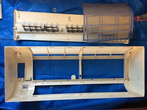 三菱製 家庭用壁掛けエアコンクリーニング施工/防府市