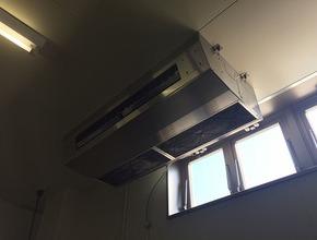 業務用天井吊るし型1方向エアコンクリーニング/周南市の施工前画像