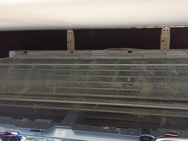 三菱製壁掛けお掃除機能付きエアコンクリーニング/山口市